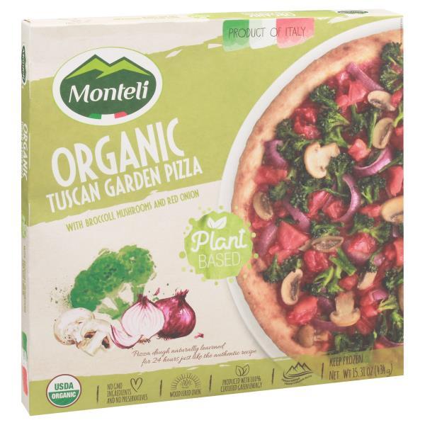 Monteli Pizza, Organic, Tuscan Garden