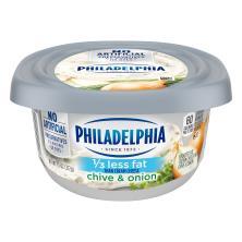 Philadelphia Cream Cheese, Reduced Fat, Chive & Onion