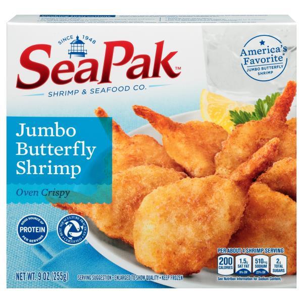 Seapak Butterfly Shrimp, Oven Crispy, Jumbo
