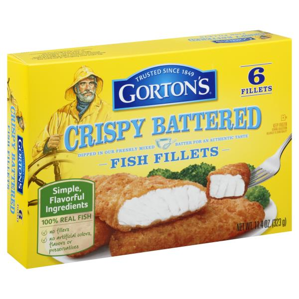 Gortons Fish Fillets, Crispy Battered