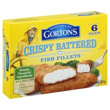 Gortons Fish Fillets, Crispy Battered