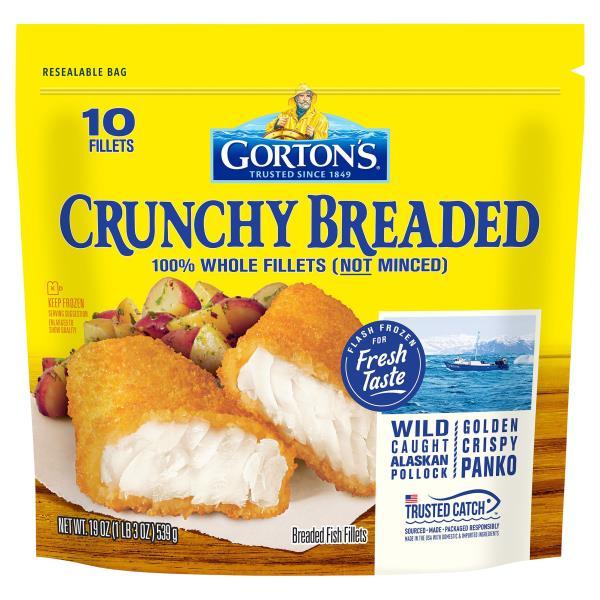 Gortons Fish Fillets, Crunchy Breaded