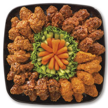Publix Deli Wing Sampler Platter, Medium