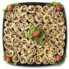 Publix Deli Fruit and Nut Roll-Up Platter, Medium