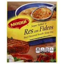 Maggi Soup Mix, Beef Flavor Noodle