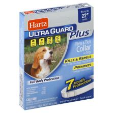 Hartz Ultra Guard Plus Flea & Tick Collar, for Dogs, White, Fresh Scent