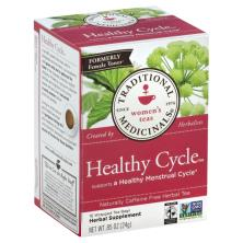Traditional Medicinals Herbal Tea, Healthy Cycle, Naturally Caffeine Free, Wrapped Bags