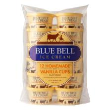 Blue Bell Ice Cream, Homemade, Vanilla Flavored, The Original, Cups