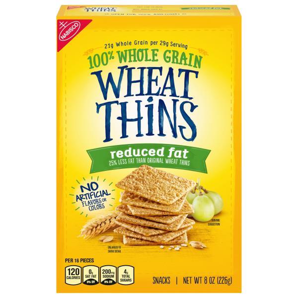Wheat Thins Snacks, Reduced Fat : Publix com