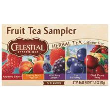 Celestial Seasonings Herbal Tea, Fruit Tea Sampler, Caffeine Free, Tea Bags