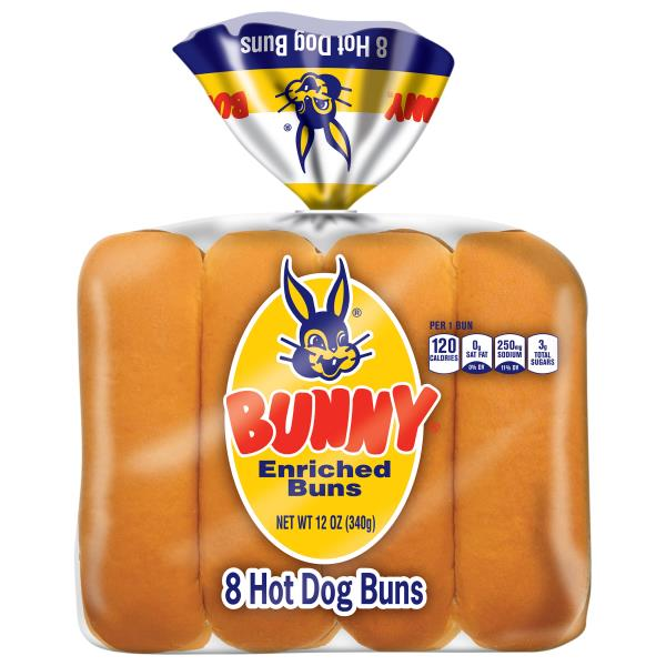 Bunny Hot Dog Buns