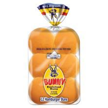 Bunny Hamburger Buns, Enriched