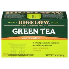 Bigelow Green Tea, with Peach, Bags