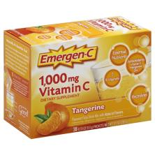 Emergen C Vitamin C, 1,000 mg, Fizzy Drink Mix, Tangerine
