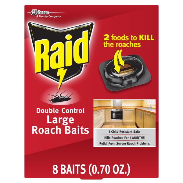 how to use raid roach bait