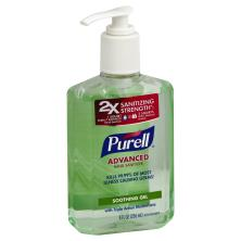 Purell Hand Sanitizer, Advanced, 2X Sanitizing Strength, Refreshing Aloe