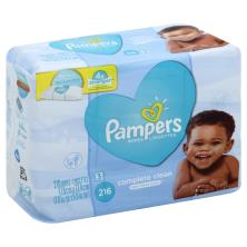 Pampers Complete Clean Wipes, Baby Fresh Scent, Refills, 3 Packs