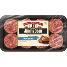 Jimmy Dean Sausage, Pork, Patties, Original