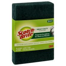 Scotch Brite Scour Pads, Heavy Duty, 3 Pack