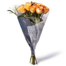 Dozen Rose Bouquet Premium Colored
