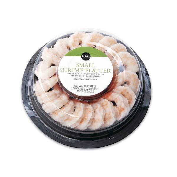 Publix Small Shrimp Platter, Includes Sauce, 10 Oz, Previously Frozen or Frozen