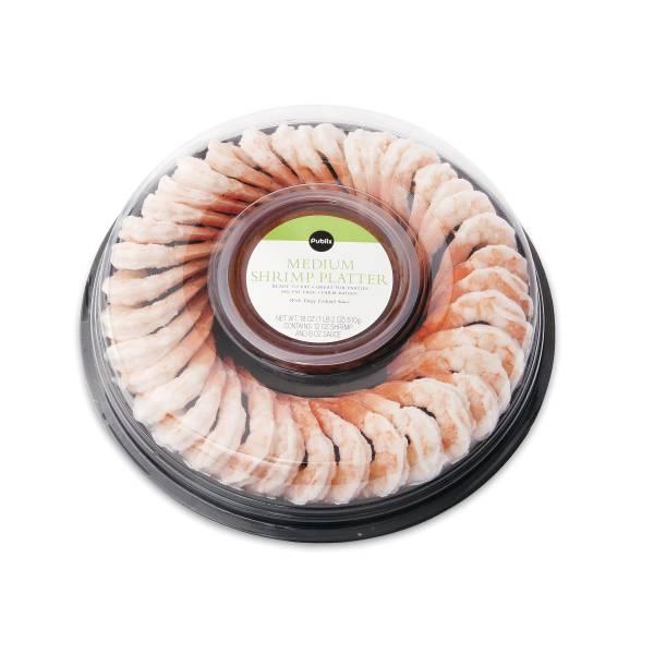 Publix Medium Shrimp Platter, Includes Sauce, 18 Oz, Previously Frozen or Frozen