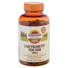 Sundown Naturals Saw Palmetto, Whole Herb, 450 mg, Capsules