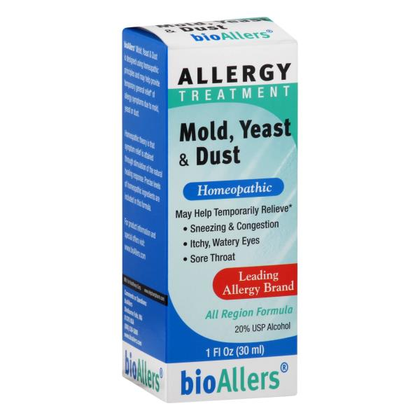 bioAllers Allergy Treatment, Homeopathic, Mold, Yeast & Dust