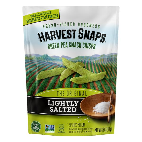 Harvest Snaps Snack Crisps, Green Pea, The Original
