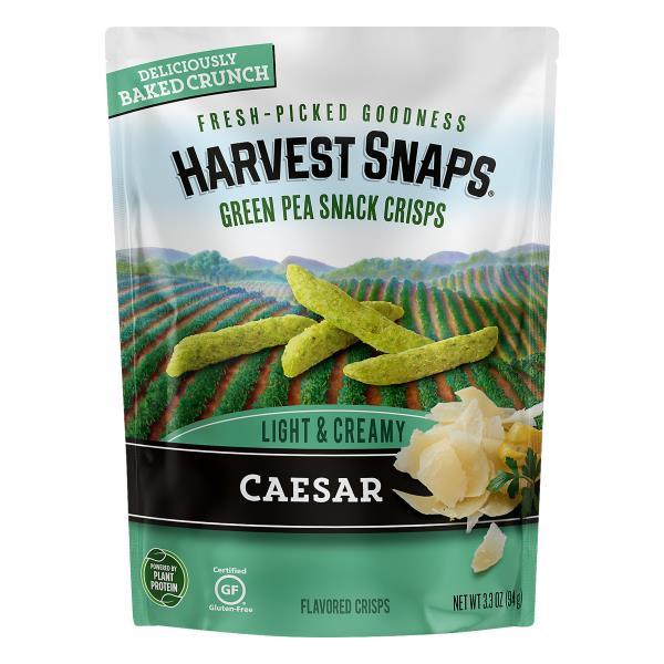 Harvest Snaps Snack Crisps, Green Peas, Caesar