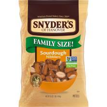 Snyders Pretzels, Nibblers, Sourdough, Family Size!