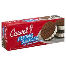 Carvel Flying Saucer Ice Cream Sandwiches, Vanilla