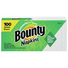 Bounty Napkins, Quilted, White, 1-Ply