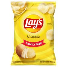 Lays Potato Chips, Classic, Family Size!