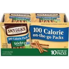 Snyders Pretzels, Sticks, 100 Calorie On-The-Go Packs