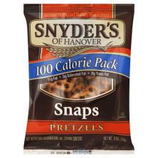 Snyders Pretzels, Snaps, 100 Calorie Pack