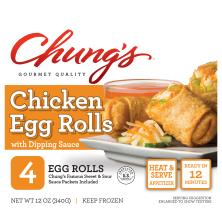 Chungs Egg Rolls, Spicy White Meat Chicken
