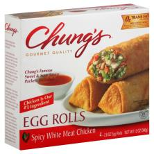 Chungs Egg Rolls, White Meat Chicken