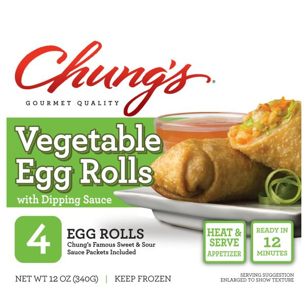 Chungs Egg Rolls, Vegetable