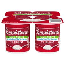 Breakstones Live Active Cottage Cheese, Small Curd, 2% Milkfat, Lowfat