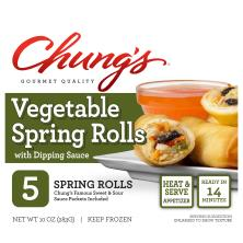 Chungs Spring Rolls, Vegetable