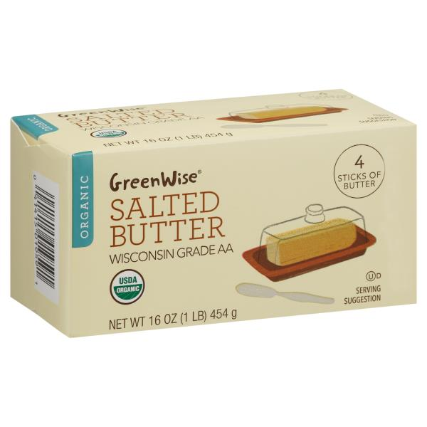 GreenWise Butter, Organic, Salted