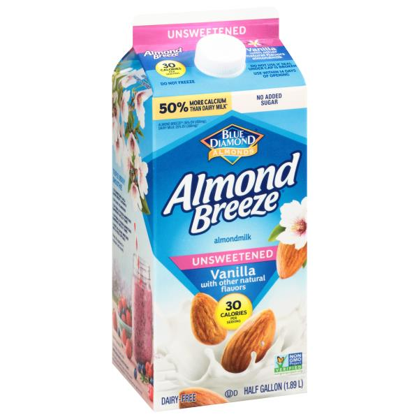 Blue Diamond Almond Breeze Almondmilk, Unsweetened, Vanilla