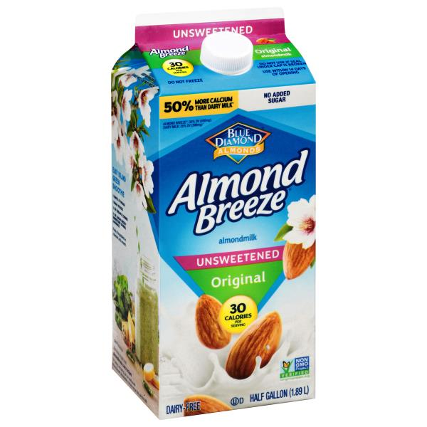 Blue Diamond Almond Breeze Almondmilk, Unsweetened, Original
