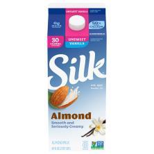 Silk Almond Milk, Unsweetened, Vanilla