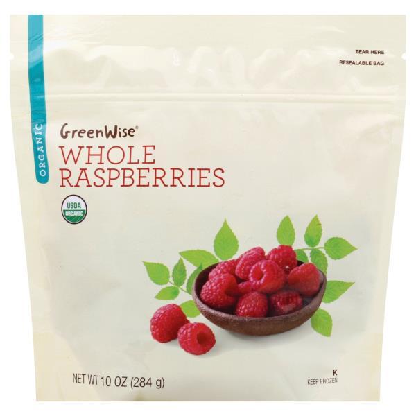 GreenWise Raspberries, Organic, Whole