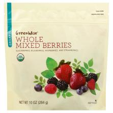 Greenwise Mixed Berries, Organic, Whole, Blackberries, Blueberries, Raspberries, and Strawberries