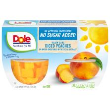 Dole Peaches, Diced, Yellow Cling, No Sugar Added