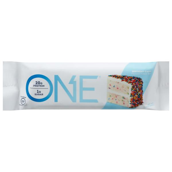 One Protein Bar Flavored Birthday Cake
