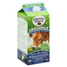 Organic Valley Grassmilk Milk, Reduced Fat, Organic, 2% Milkfat